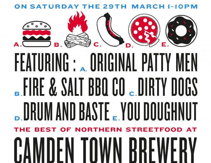 Guerrilla Eats gang pop at Camden Town Brewery 29th March
