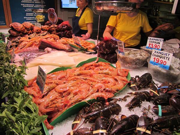 Unique freshest seafood in Barcelona - La Paradeta