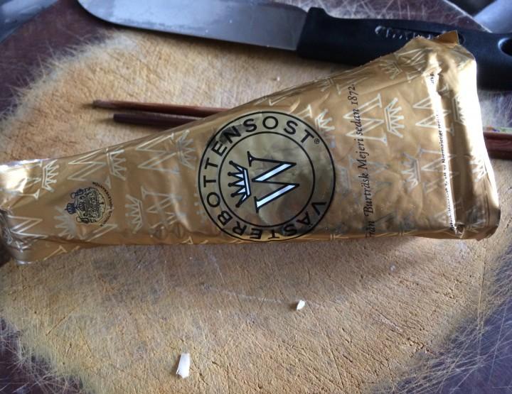 Cheese ramen with Västerbotten cheese