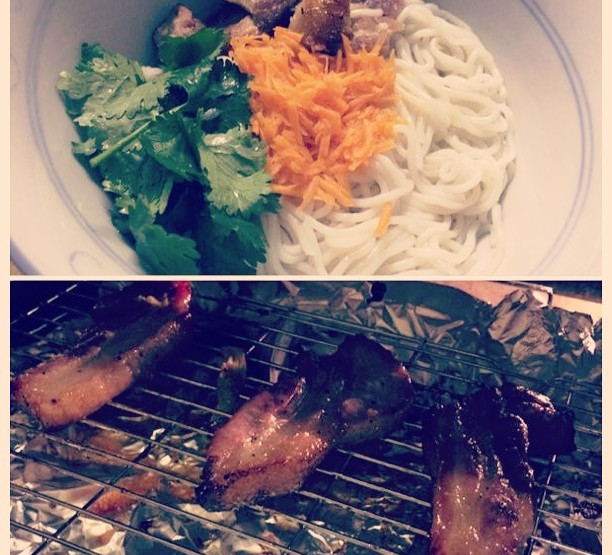 Char Grilled belly pork - Bun Thit Nuong Recipe