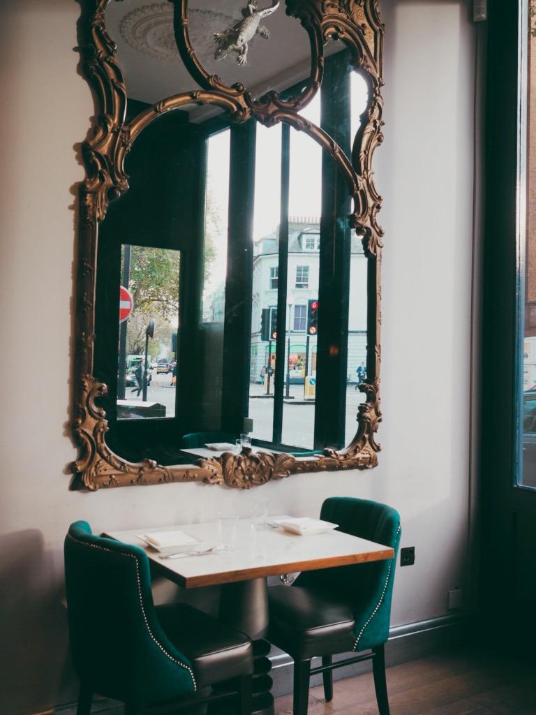 Scottish tweed seats and mirrors