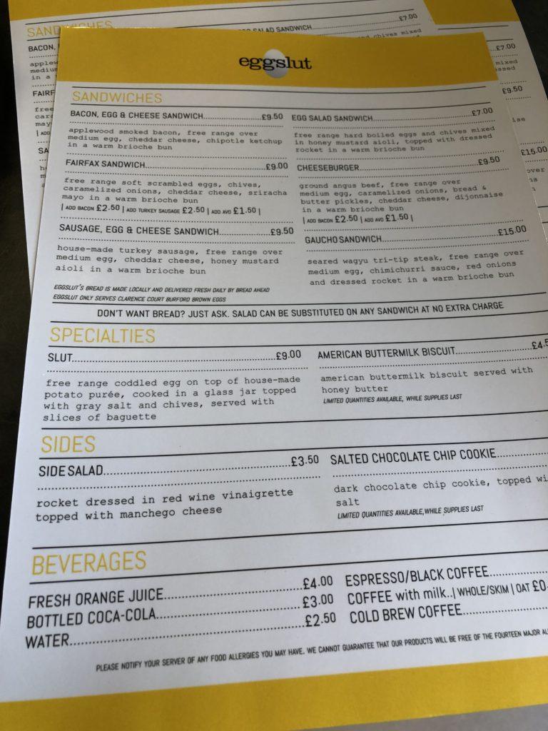 eggslut_london_menu