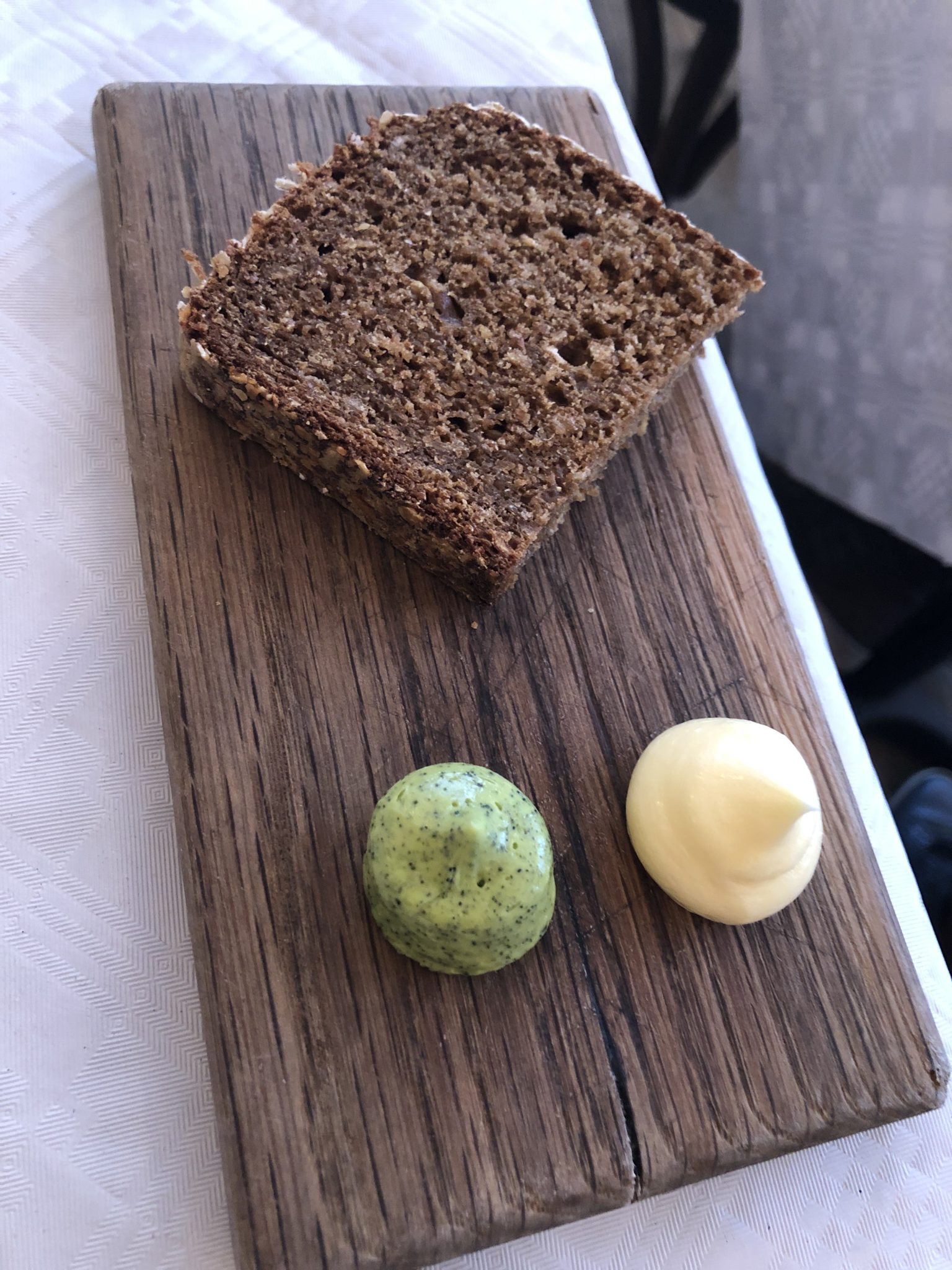 Soda bread with salted and seaweed butter.