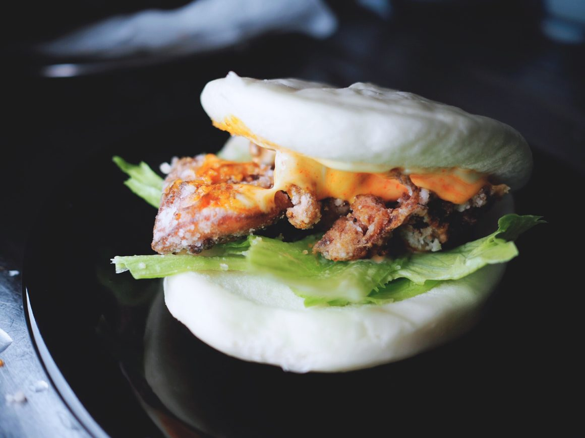 Japanese fried chicken with spicy mayo bao recipe