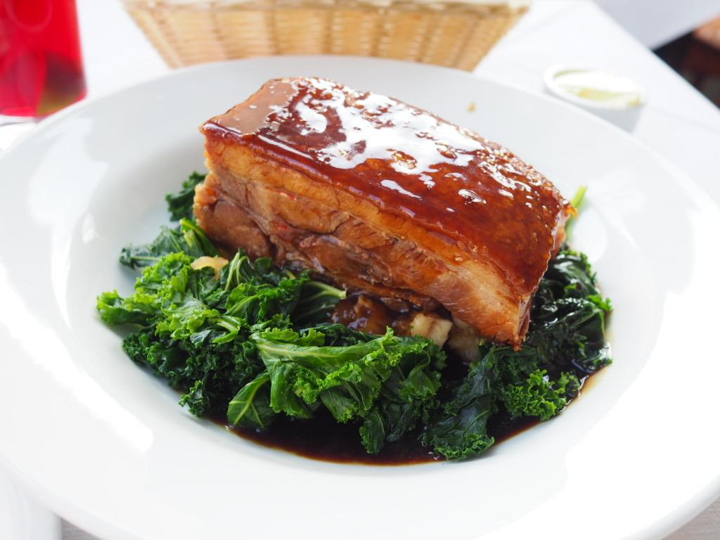 Pork Belly/Sautéed Curly Kale/Celeriac /Granny Smith Apple 2