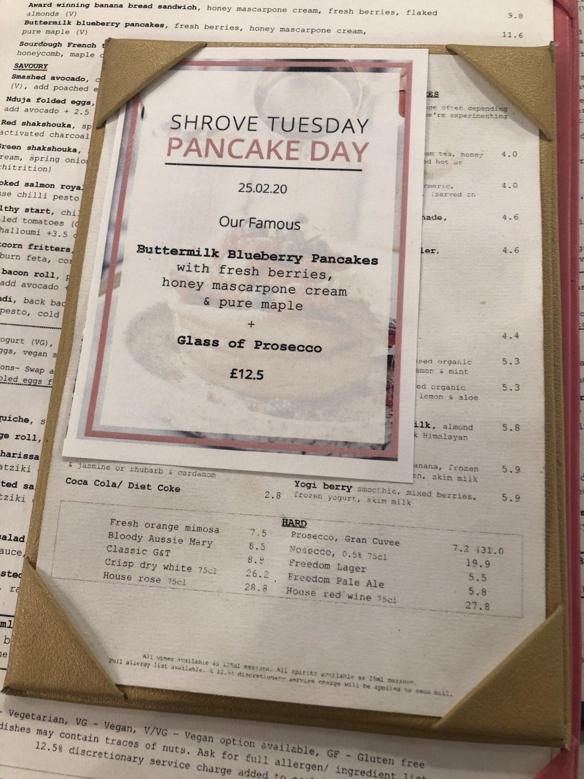 Daisy Green menu