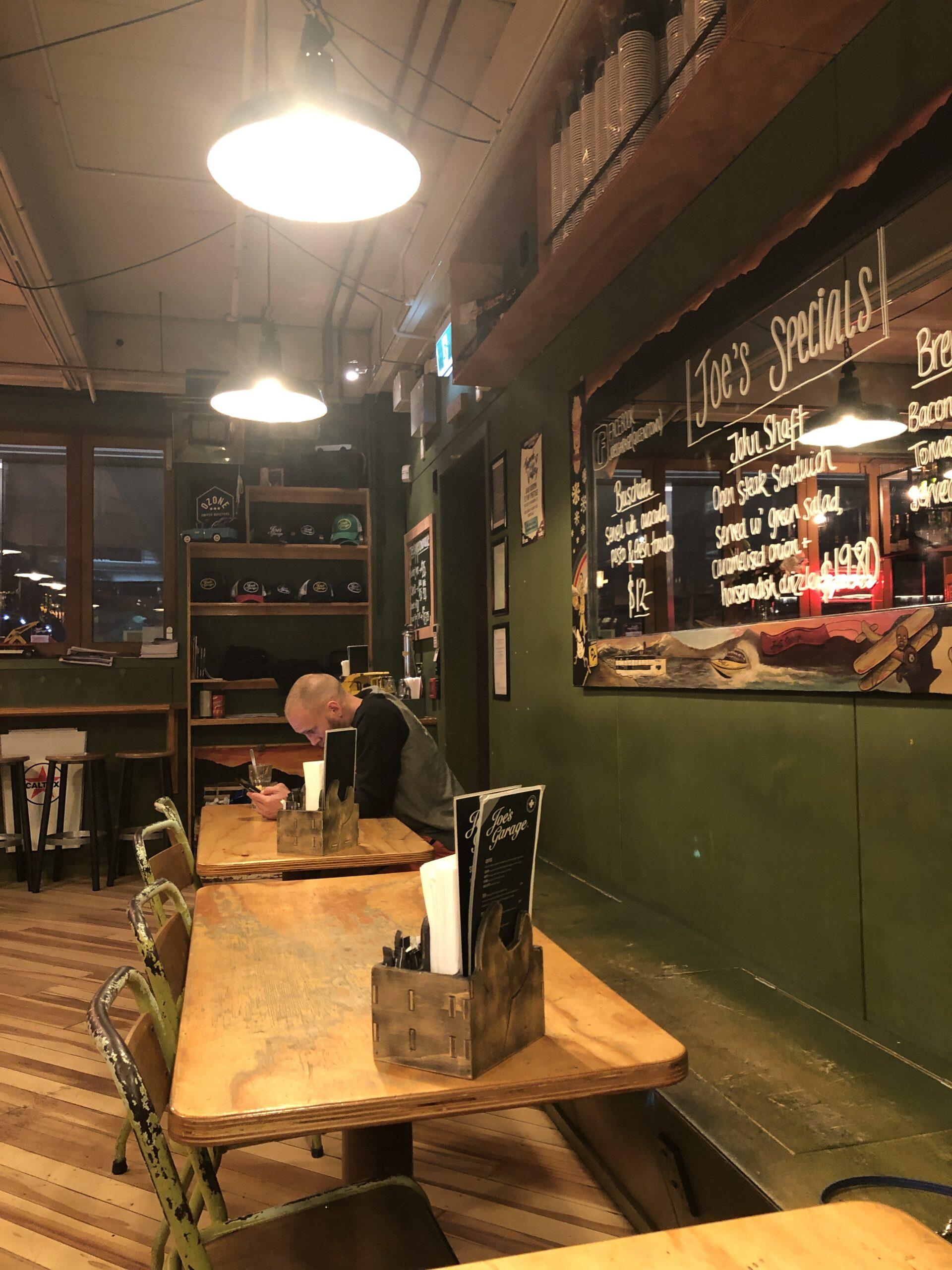 Joe's Garage Queenstown inside area