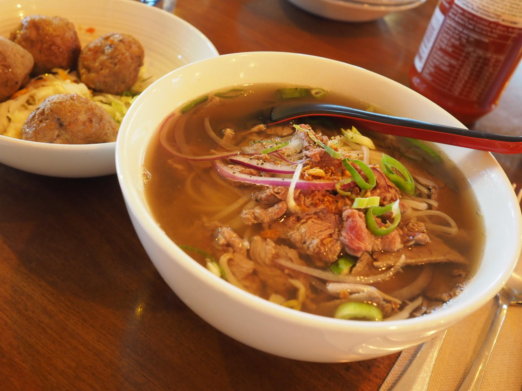 Saigon Kingdom Pho bo ha noi meatballs