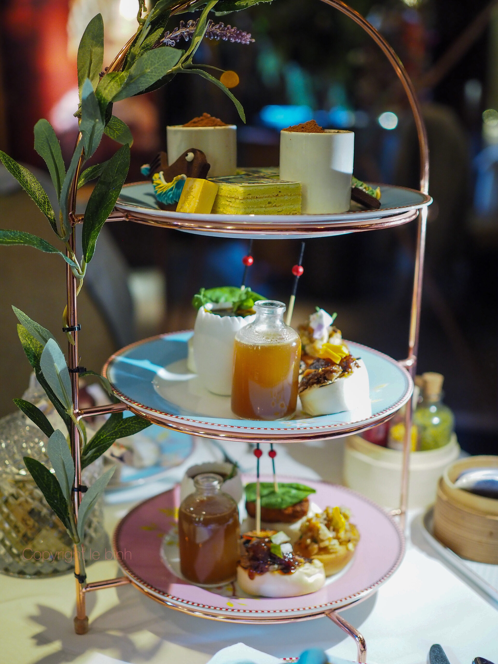 The Chinese Whispers Afternoon tea at One Michelin star Kai Mayfair